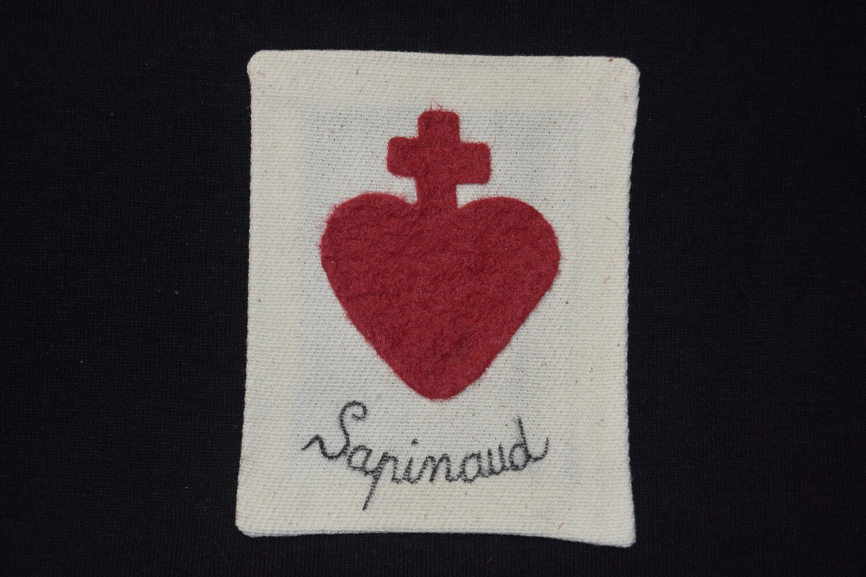 Insigne Scapulaire Sacré Cœur Vendéen Louis Sapinaud de La Verrie