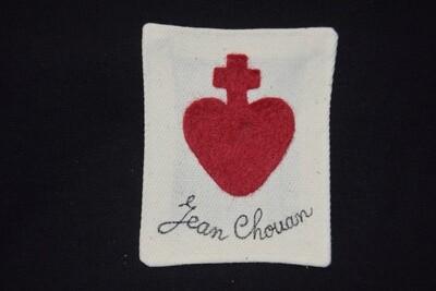 Insigne Scapulaire Sacré Cœur Vendéen Jean Chouan