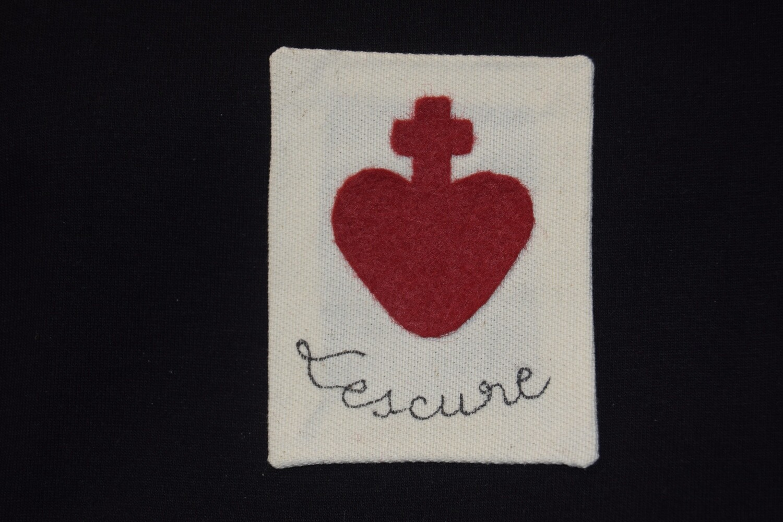 Insigne Scapulaire Sacré Cœur Vendéen Louis de Salgues de Lescure