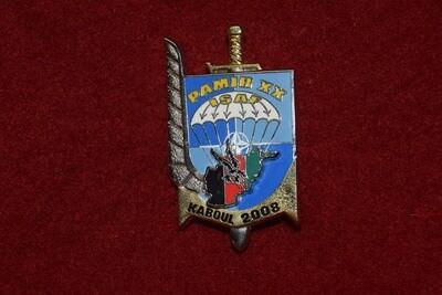 Insigne militaire 3e RPIMa PAMIR XX ISAF KABOUL 2008