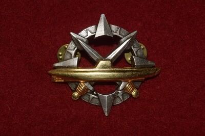 Insigne militaire Certificat Commandant de Sous Marin
