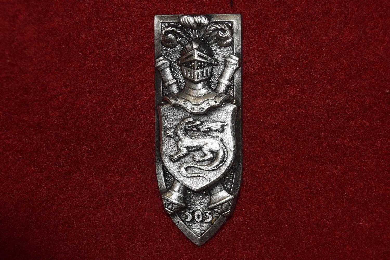 Insigne militaire 503e RCC Régiment de Chars de Combat