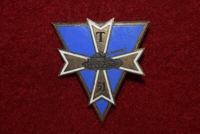 Insigne militaire 51e Bataillon de Transmissions de la 1ère Division Blindée