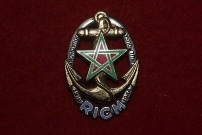 Insigne militaire Régiment d'Infanterie et de Chars de Marine