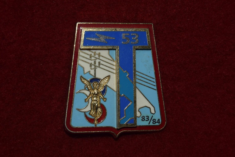 Insigne militaire 53e Régiment des Transmissions 53e RT