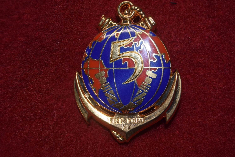 Insigne militaire 5e Régiment Interarmes d'Outre-Mer 5e RIOM