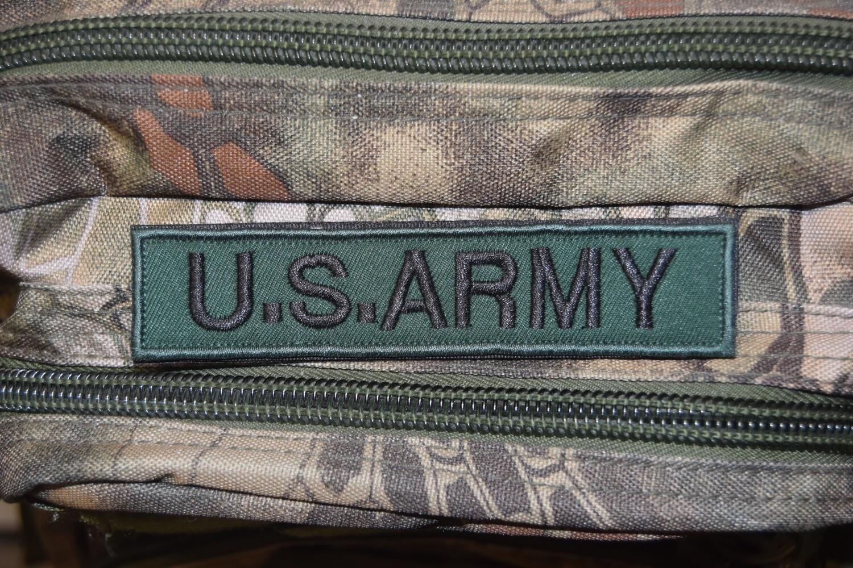 Patch bande patronymique US ARMY avec scratch au dos