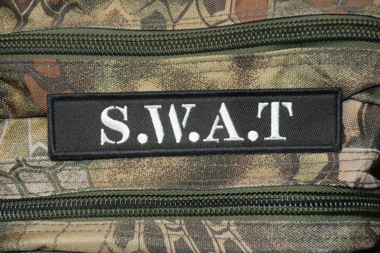 Patch bande patronymique SWAT S.W.A.T avec scratch au dos