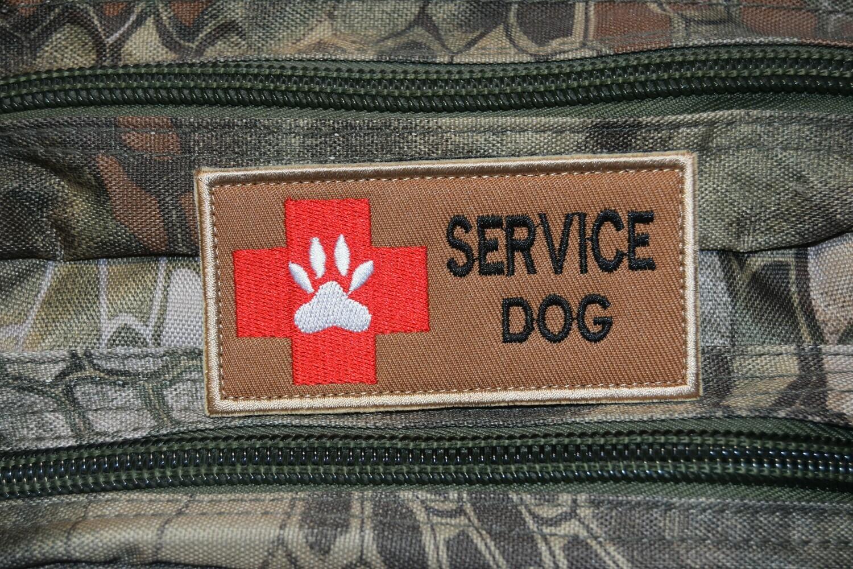 Patch MEDIC SERVICE DOG avec scratch au dos