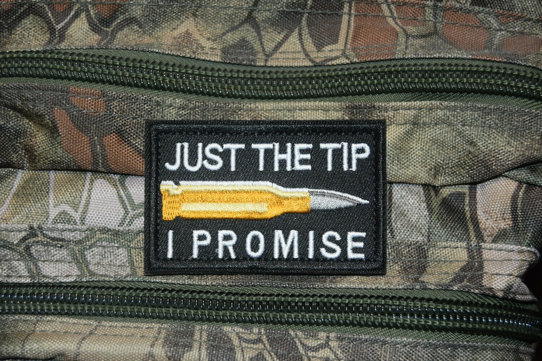 "Patch JUST THE TIP I PROMISE ""QUE LA POINTE JE PROMETS"""