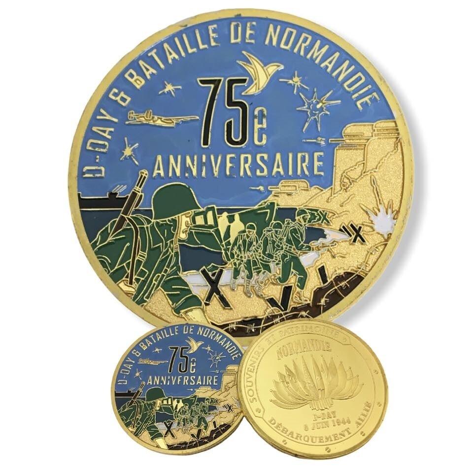 Coin commémoration 75e Anniversaire du débarquement D-DAY 1944