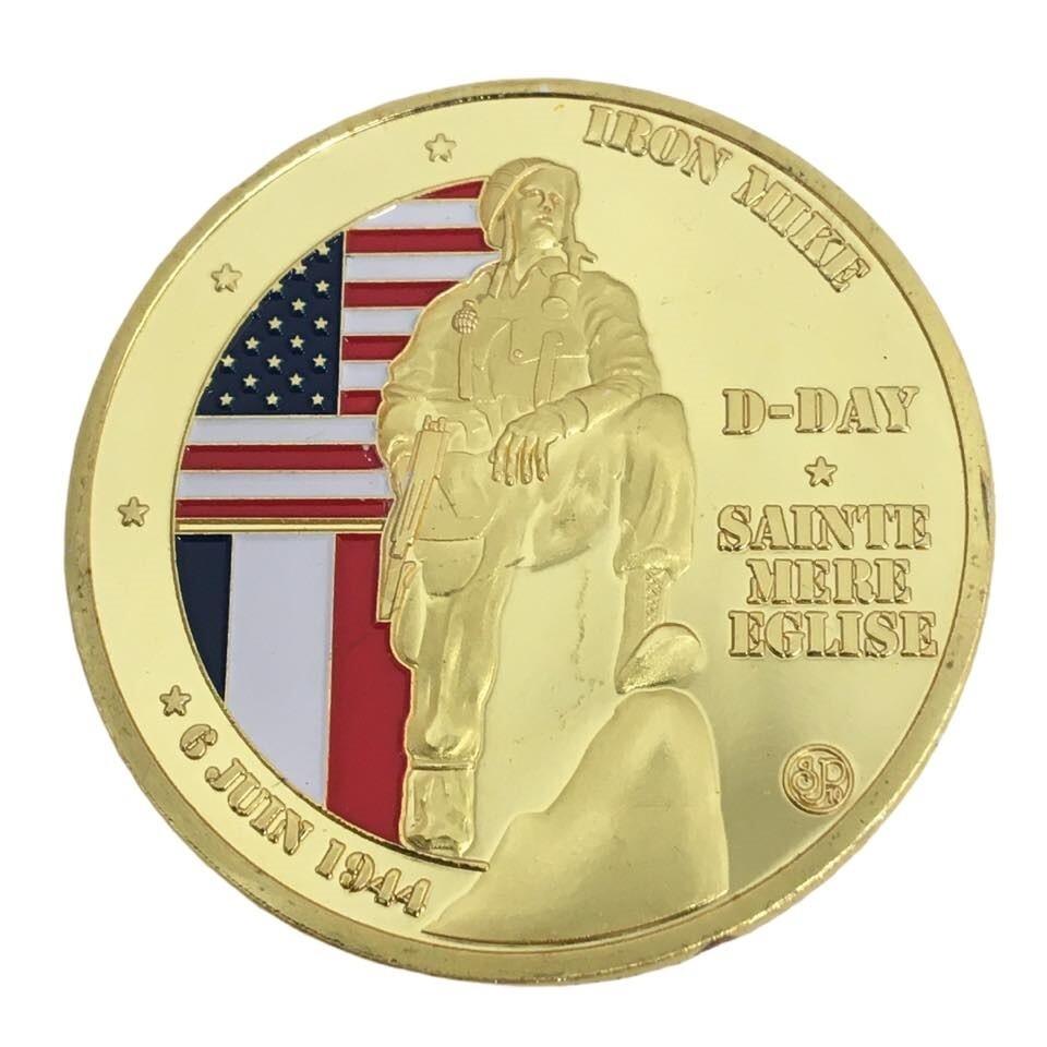 Coin commémoration IRON MIKE D-DAY 1944 Sainte Mère Église