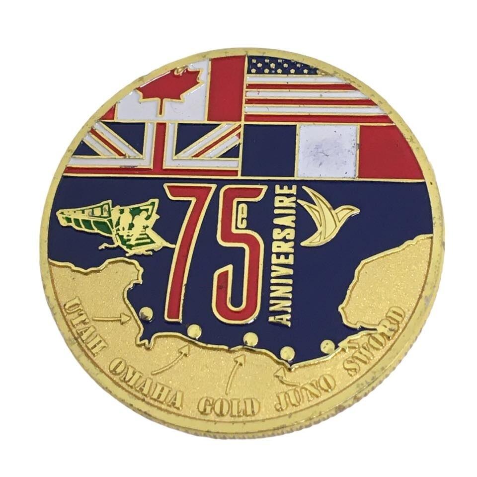 Coin 75e Anniversaire du débarquement en Normandie D-DAY 1944