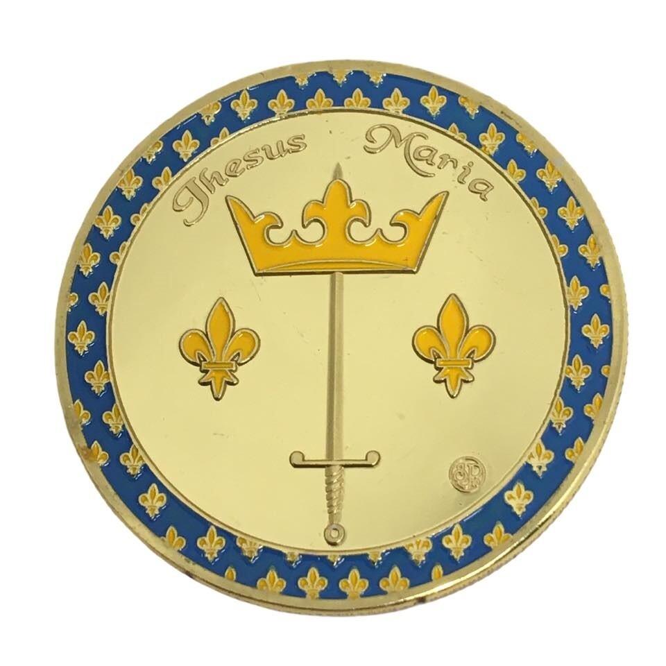 Coin pièce souvenirs de Sainte Jeanne d'Arc