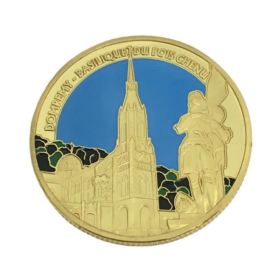 Médaille Sainte Jeanne d'Arc DOMREMY Basilique du Bois Chenu