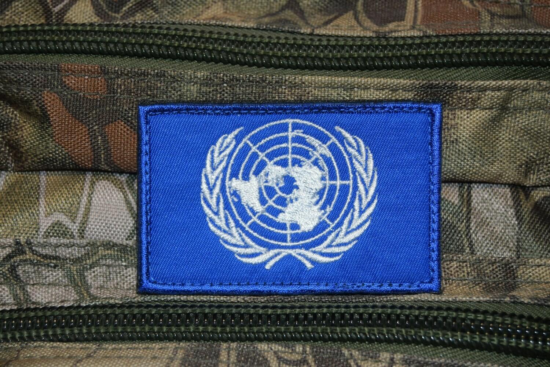 Patch drapeau ONU Organisation des Nations Unies