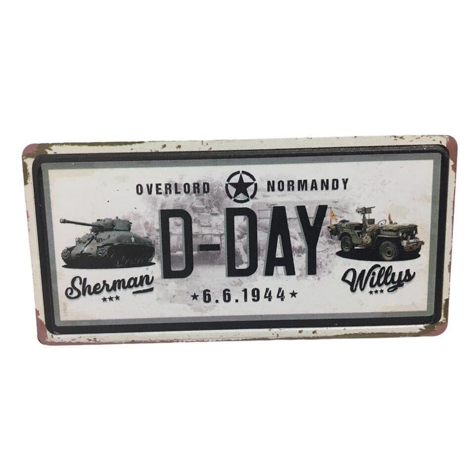 Magnet Char Sherman Jeep Willys D-DAY 6 Juin 1944