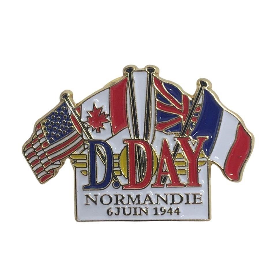 Pin's D-DAY 6 Juin 1944 Normandie USA CANADA GRANDE-BRETAGNE FRANCE