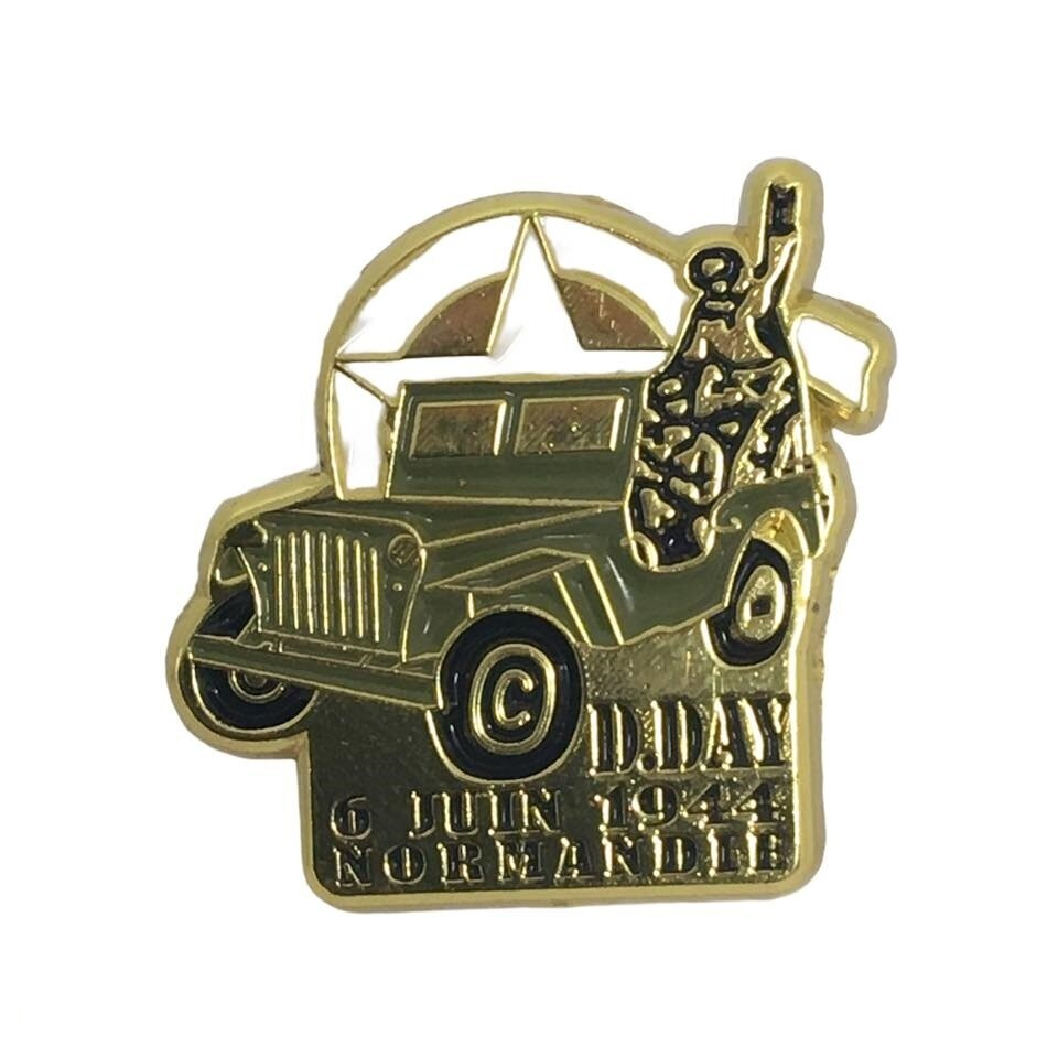 Pin's Jeep D-DAY 6 Juin 1944 Normandie