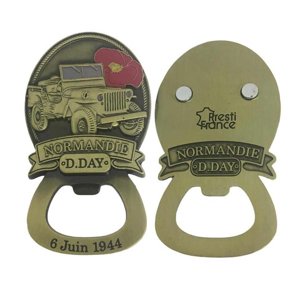 Magnet ouvre bouteille décapsuleur Jeep D-DAY 6 Juin 1944