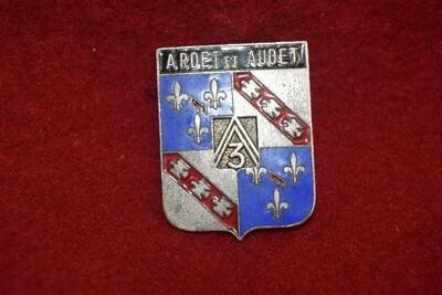 Insigne militaire ABC 3e Régiment de Dragons  ARDET et AUDET