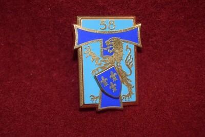Insigne militaire 58e BT Bataillon de Transmissions