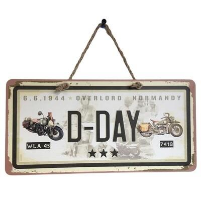Plaque métal décoration Harley Davidson WLA 45 - Indian 741B D-DAY 1944