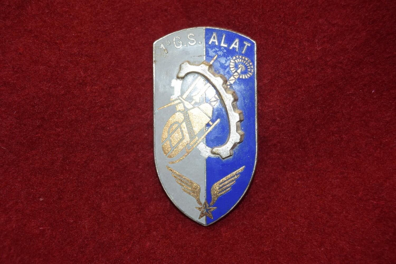 Insigne militaire 1er Groupe de Soutien Aviation Légère Armée de Terre 1er G.S. ALAT