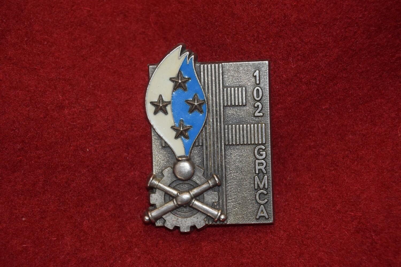 Insigne militaire Régiment du Matériel 102e GRMCA