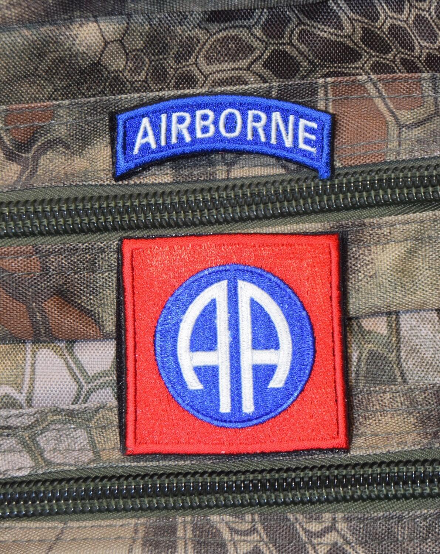 Patch US 82e Airborne Division avec scratch au dos