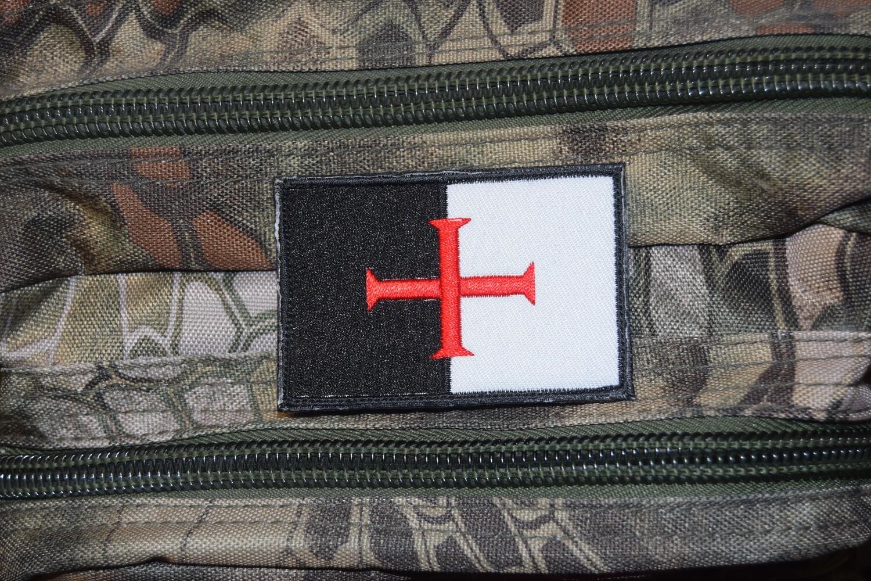 Patch drapeau Templier Beaucent Croisade Chrétienne