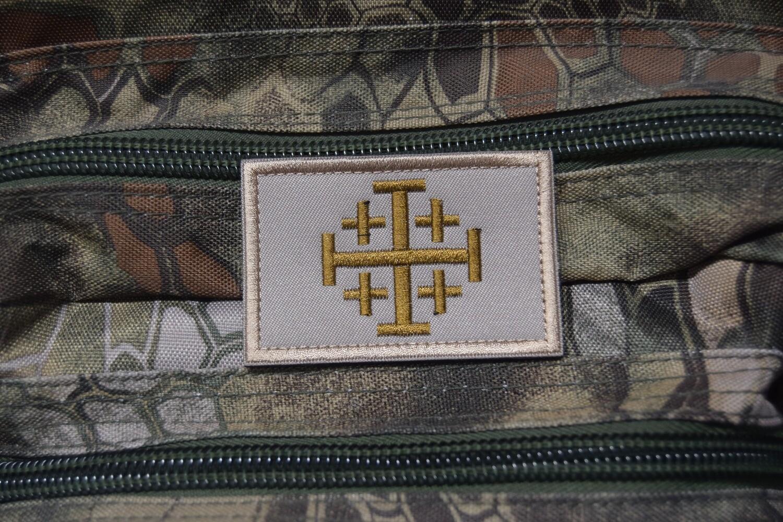 Patch Drapeau Croix de JÉRUSALEM Templier Croisade Chrétien