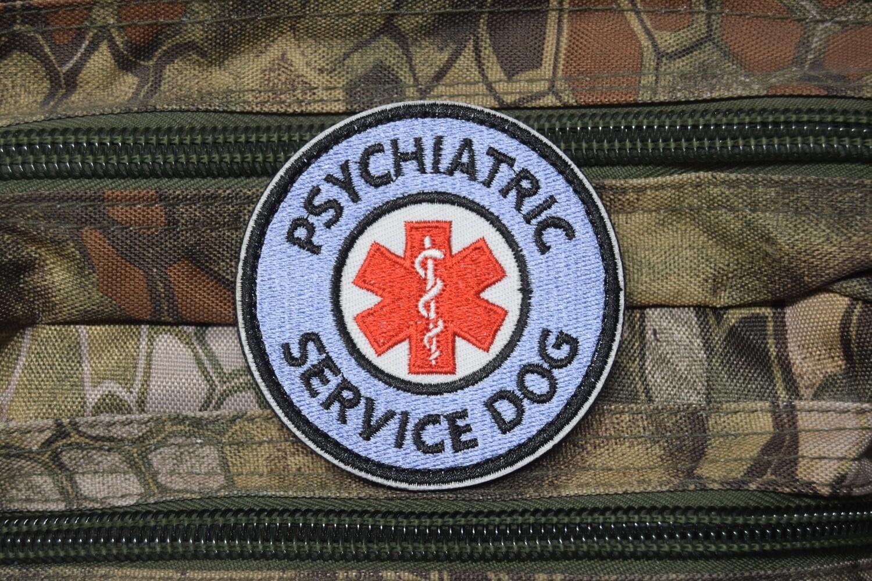 Patch PSYCHIATRIC MEDIC SERVICE DOG avec scratch au dos
