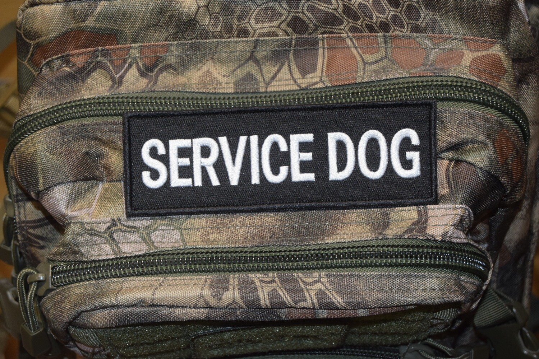 Patch SERVICE DOG (5 cm sur 15 cm environ)