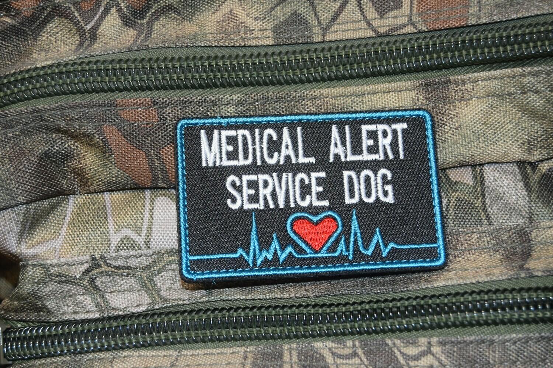Patch MEDICAL ALERT SERVICE DOG avec scratch au dos