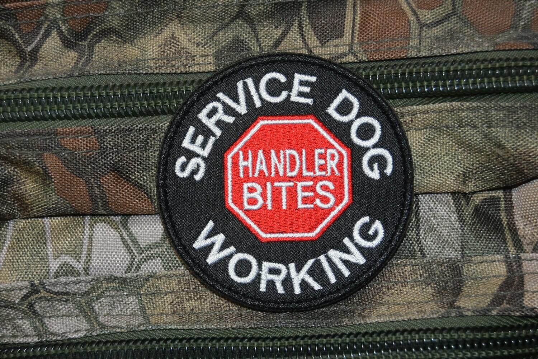 Patch US SERVICE DOG WORKING Handler Bites