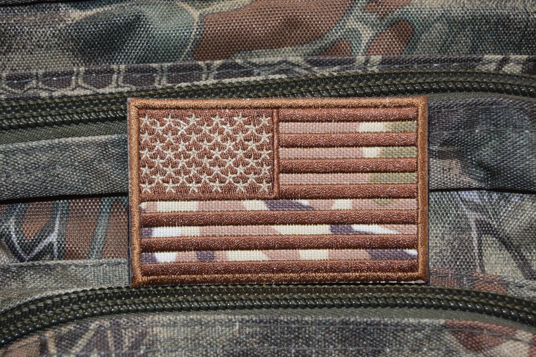 Patch drapeau Américain MULTICAM avec scratch au dos
