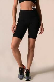 Active High Rise Matte Bike Shorts w/ Hidden Waist