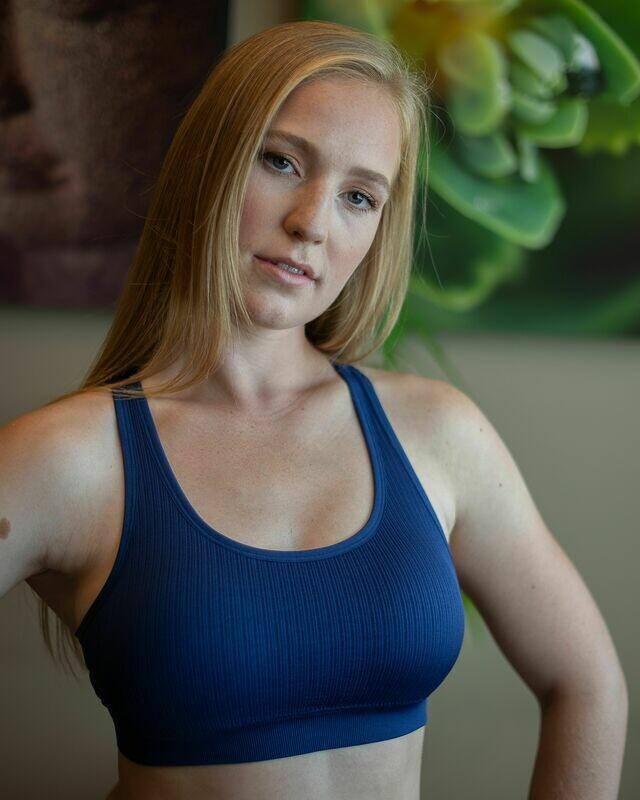 Macrame cutout sports bra