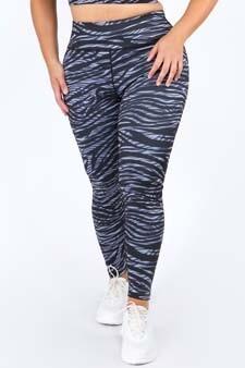 Women's Active Zebra Print Workout Leggings