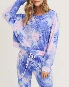 Long Sleeve Top and Jogger Tie Dye Set