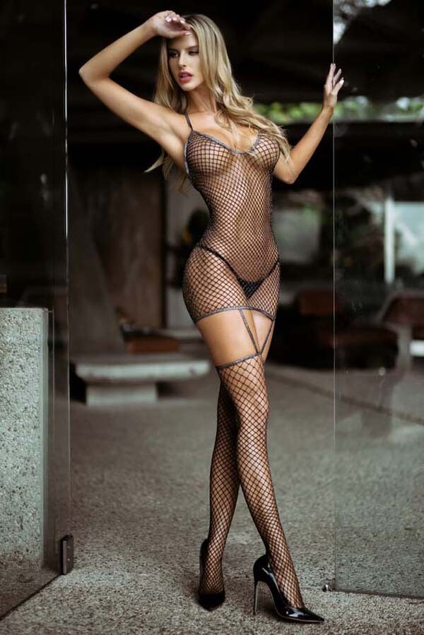 LEGS Kiss it Better Fishnet Bodystocking