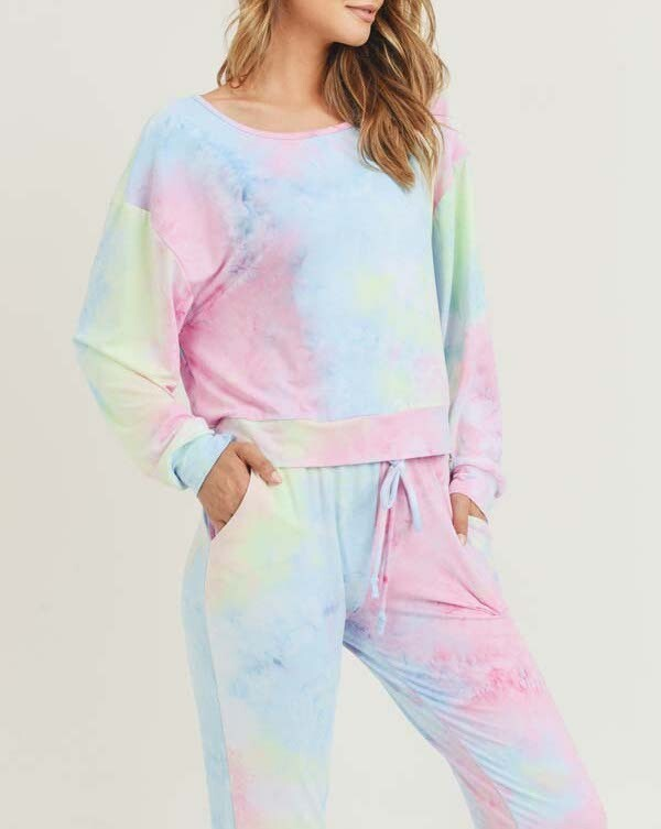 Tie Dye Long Sleeve-Jogger Set