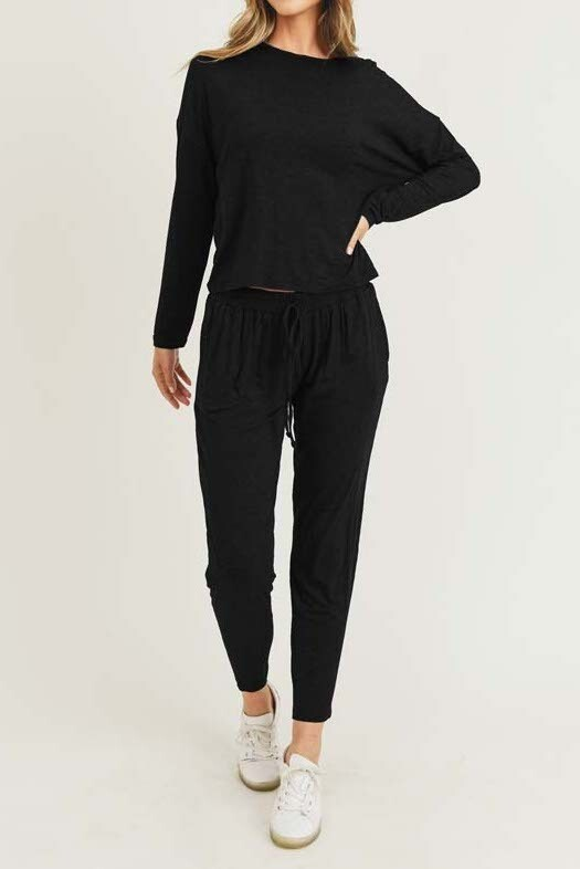 Long Sleeve Top and Jogger Set