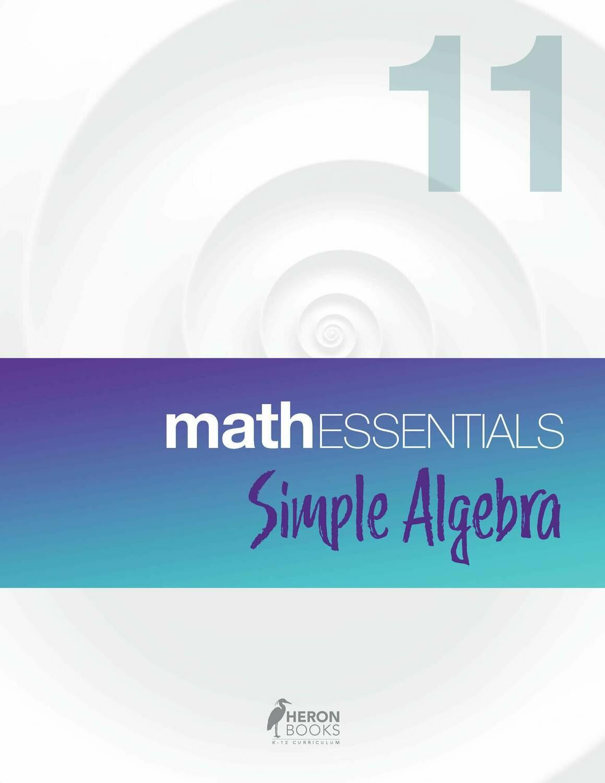Math Essentials 11 - Simple Algebra