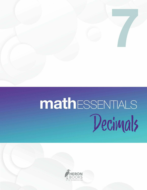 Math Essentials 7 - Decimals