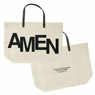 AMEN | Jute Tote Bag