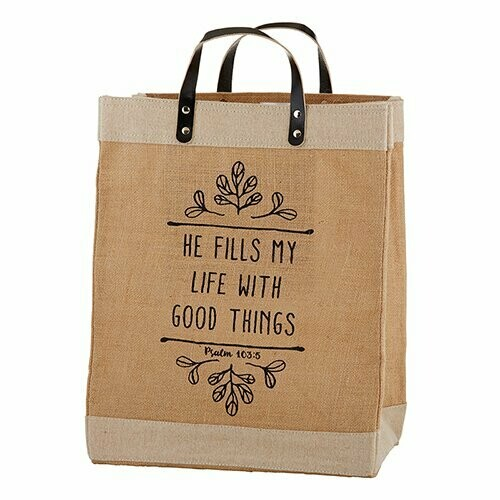 He Fills My Life With Good Things Market Tote