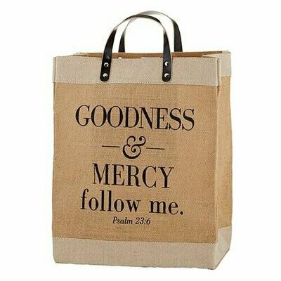 Farmer's Market Large Tote - Goodness & Mercy Follow Me