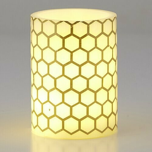 LED Candle- Honeycomb